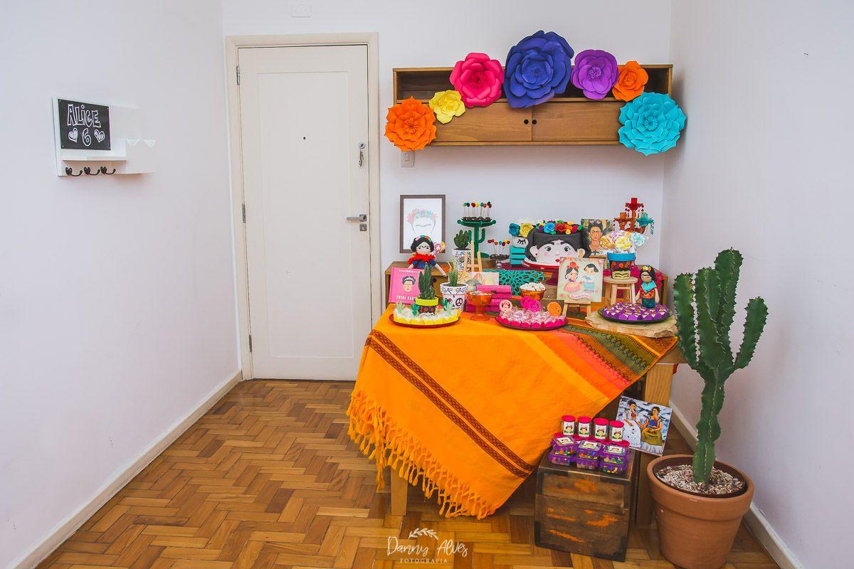 eb430677b81 decoração de festa infantil com tema frida kahlo