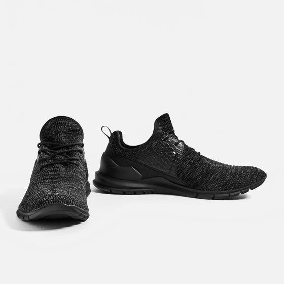 BLACK FABRIC SNEAKERS from Zara