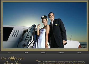 Wedding Photography Template Elegant Fonts And Gold Detail Give - Wedding photography website templates