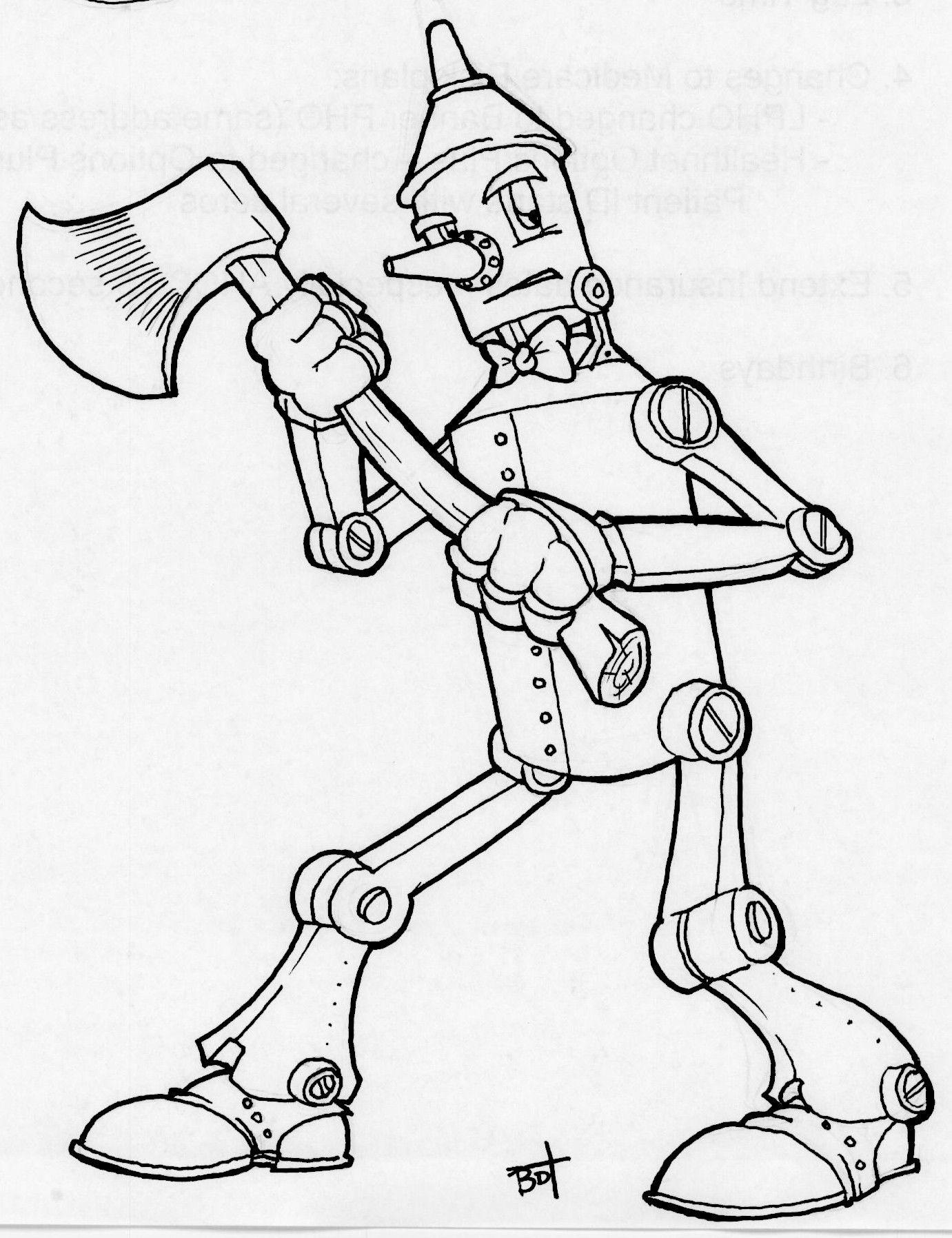 Tin Man Drawing