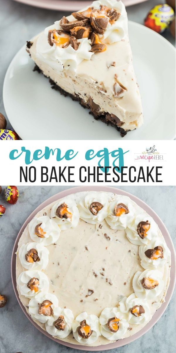 This No Bake Cadbury Creme Egg Cheesecake is the ultimate Easter dessert Made with just a few ingredients and no oven Easter cake  Easter cheesecake  Easter egg