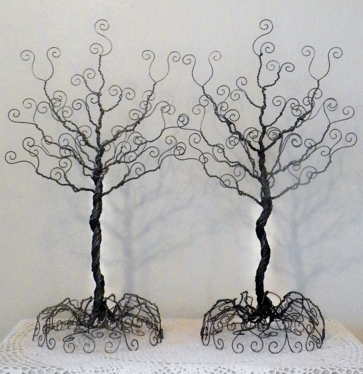 Image Detail For Set Of 2 Wire Jewelry Tree Stands Earring Necklace Organizer Jewelry Tree Stand Jewelry Tree Wire Jewelry