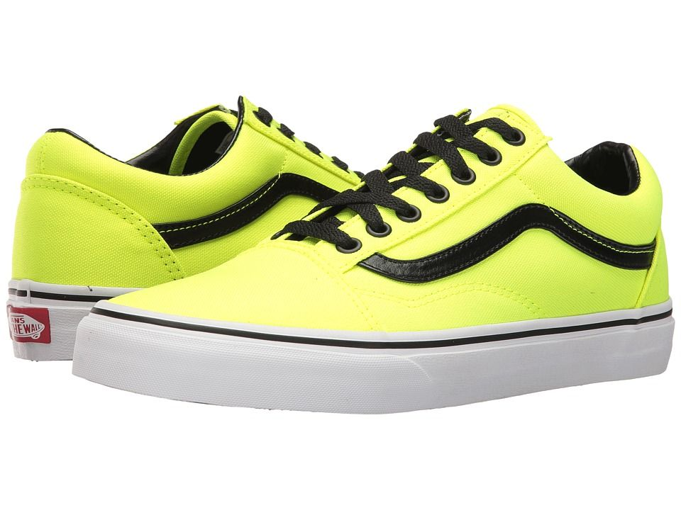 10fc83f43b VANS VANS - OLD SKOOLTM ((BRITE) NEON YELLOW BLACK) SKATE SHOES.  vans   shoes