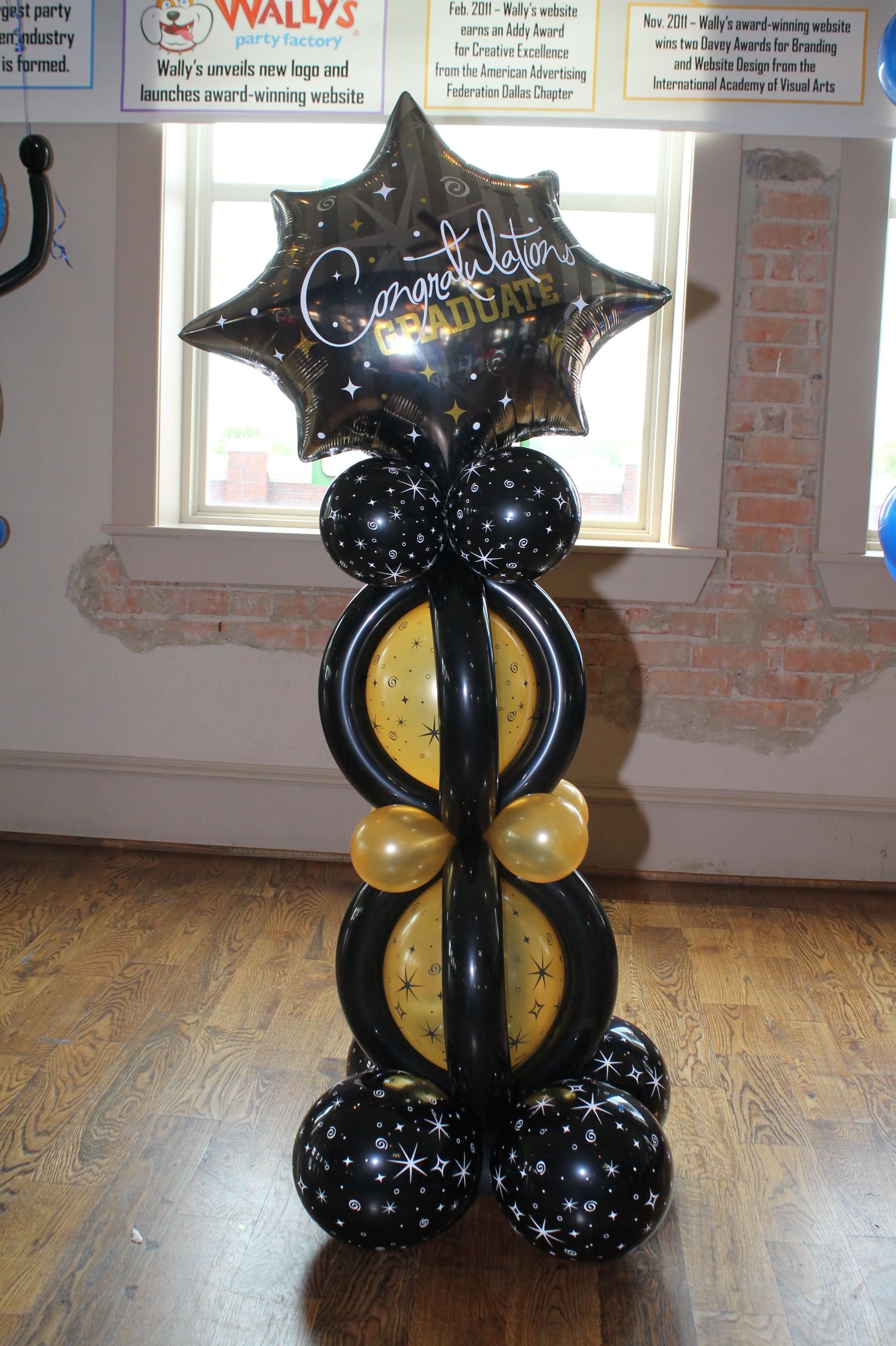 It may seem over the top but you know the kids will love for Balloon decoration graduation