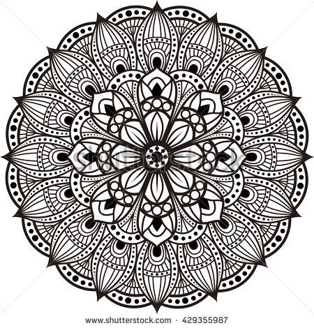 Oblong Mandala Coloring Page Mandala Coloring Book Pattern