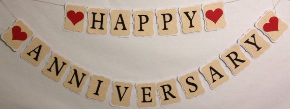 Happy Anniversary Party Decorations Wedding by ...
