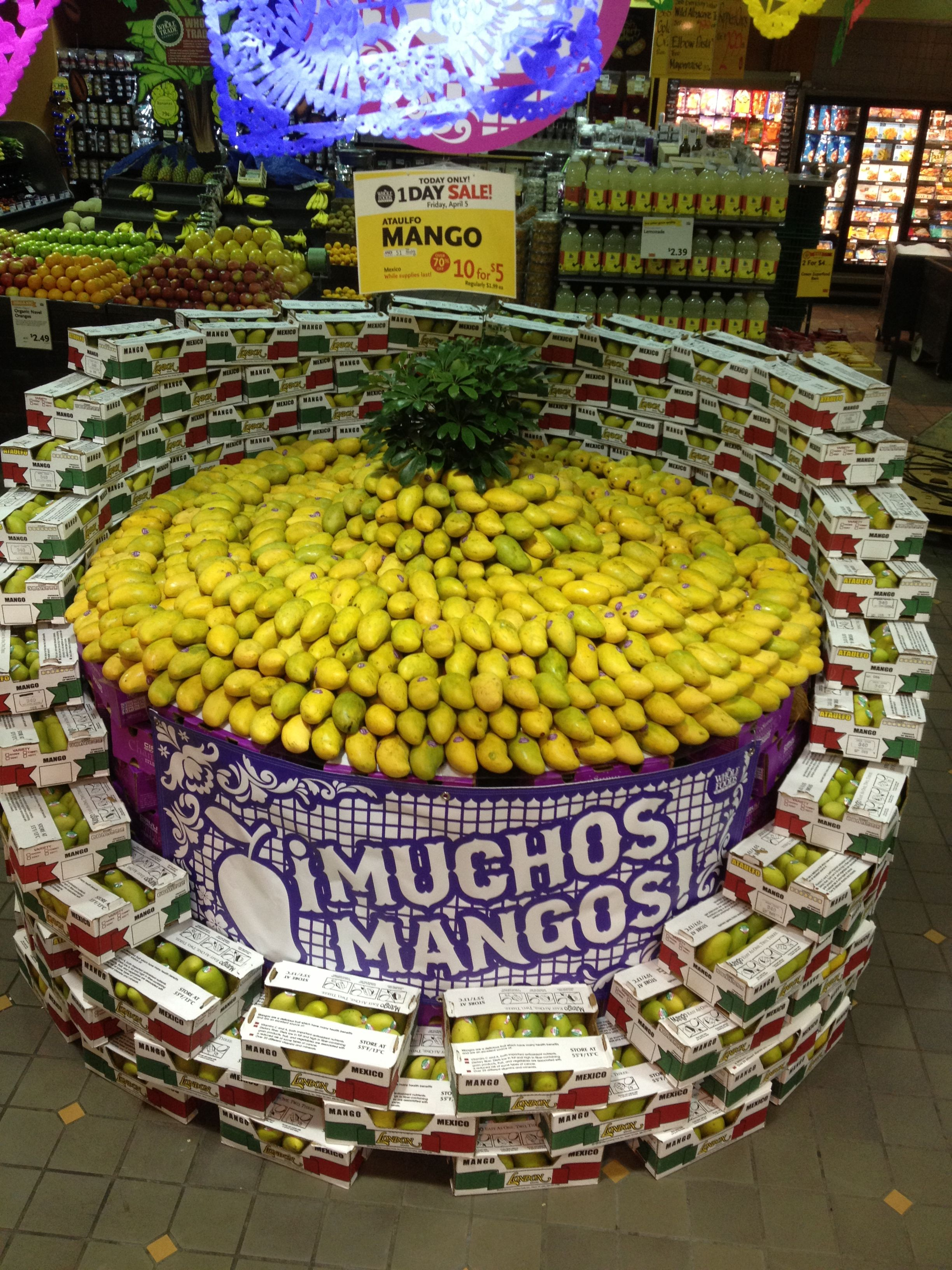 Whole foods produce department mangoes! Whole foods