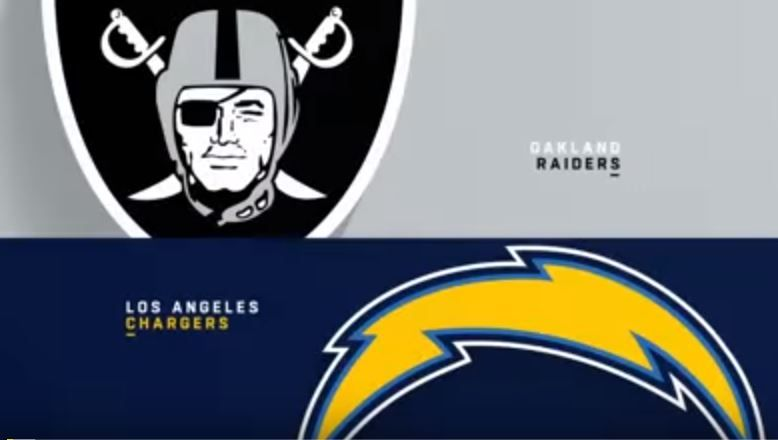 Image result for Raiders vs chargers 2018