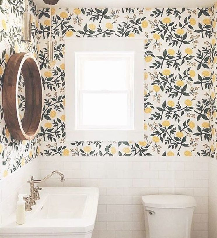 Peonies Yellow Wallpaper Hygge West Home How To Install Wallpaper Home Decor Inspiration