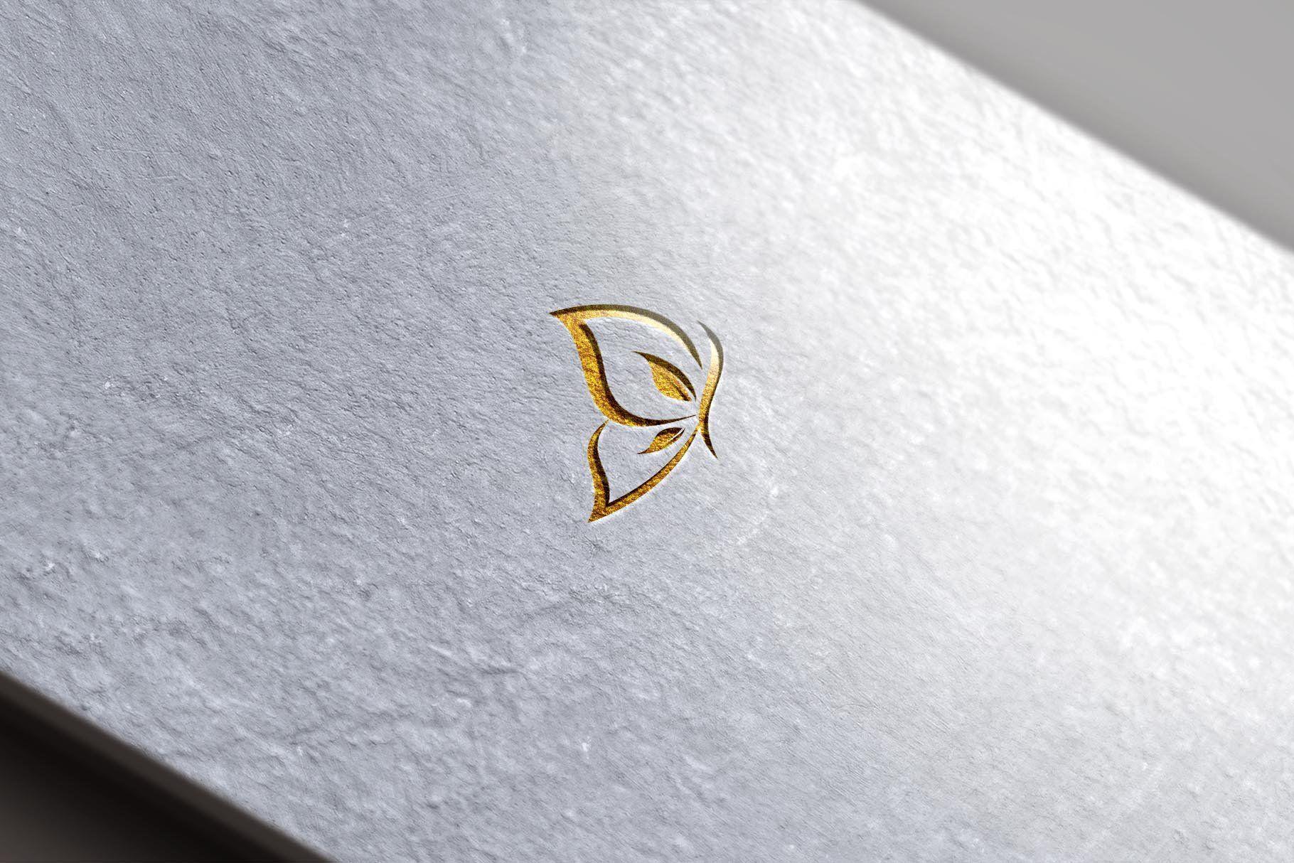 Leaf Butterfly Logo Butterfly logo, Branding design logo
