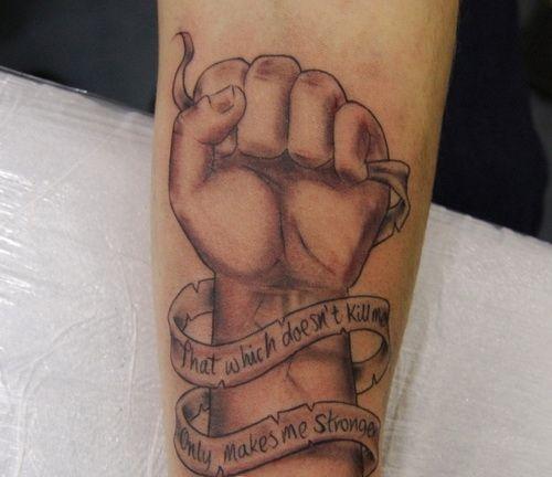 30 Beautiful Scroll Tattoos: Beautiful Word Of Tattoo: Long Scroll Tattoo Design Ideas
