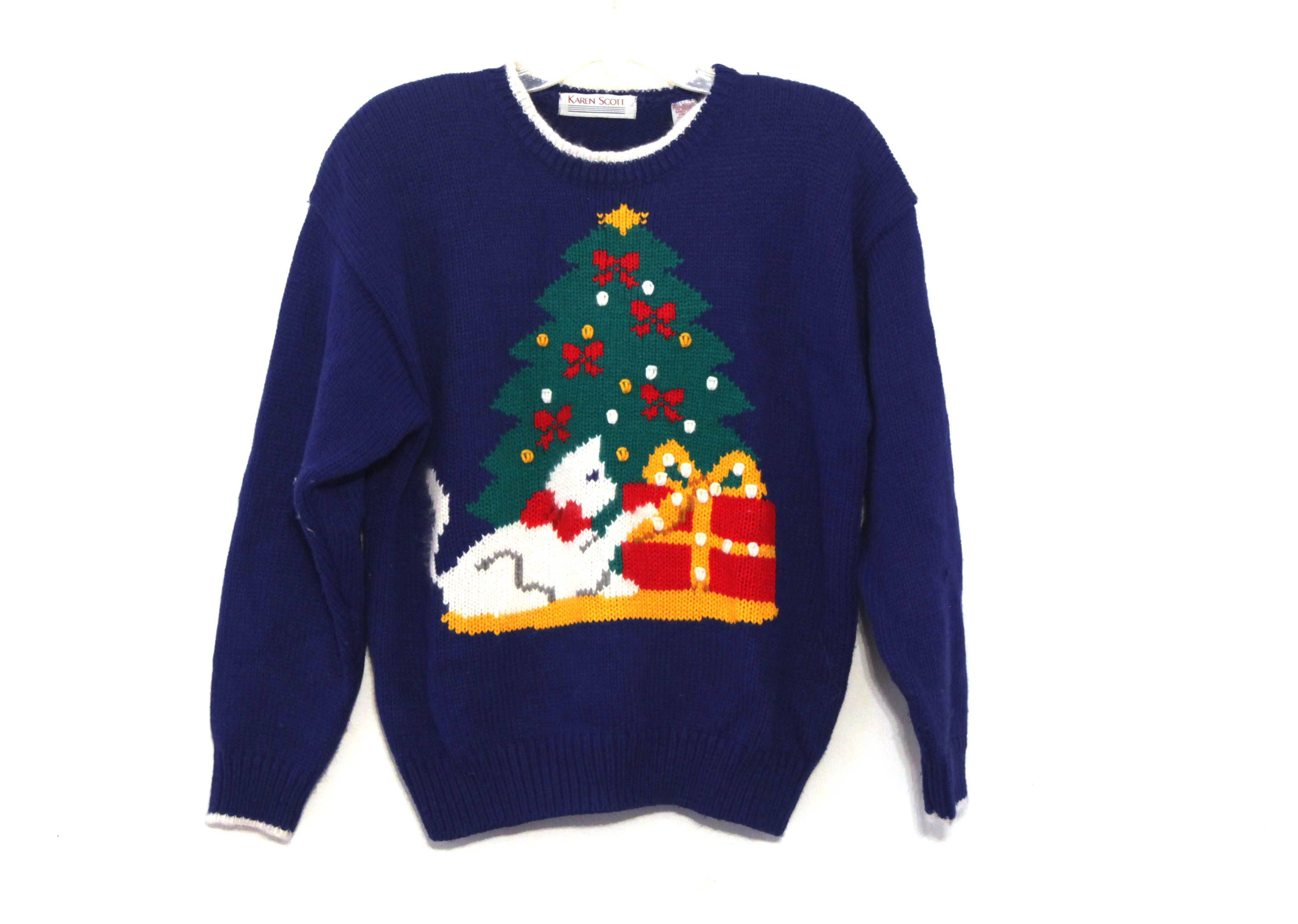 vintage christmas sweater cats cat lady presents by on etsy
