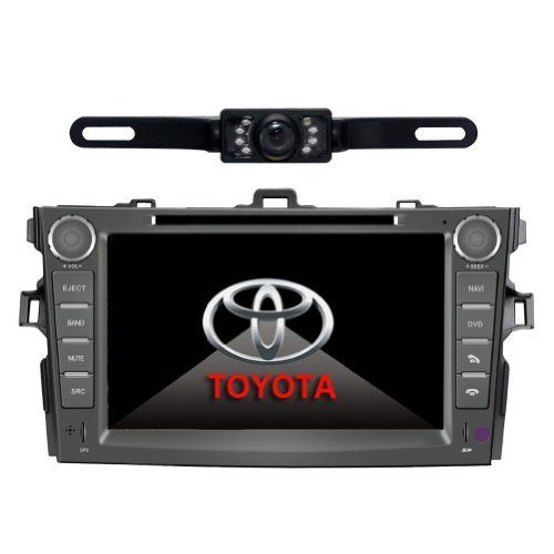 Tyso For TOYOTA Corolla support year 2007 2008 2009 2010 8 inch Indash CAR DVD Player GPS Navigation Navi iPod Bluetooth Rear Camera HD Touchscreen TV Radio RDS FM PIP Free Map CD8963R ** You can find out more details at the link of the image.