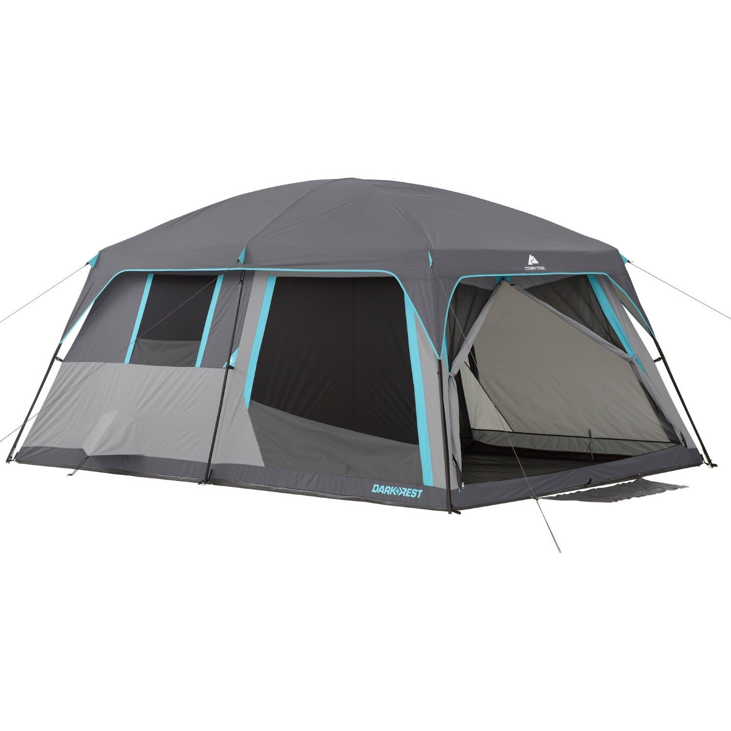 The Ozark Trail 10 Person Half Dark Rest Cabin Tent Features An Innovative Dark Resttm Technology That Blocks Sunlight To Help You Cabin Tent Tent Ozark Trail