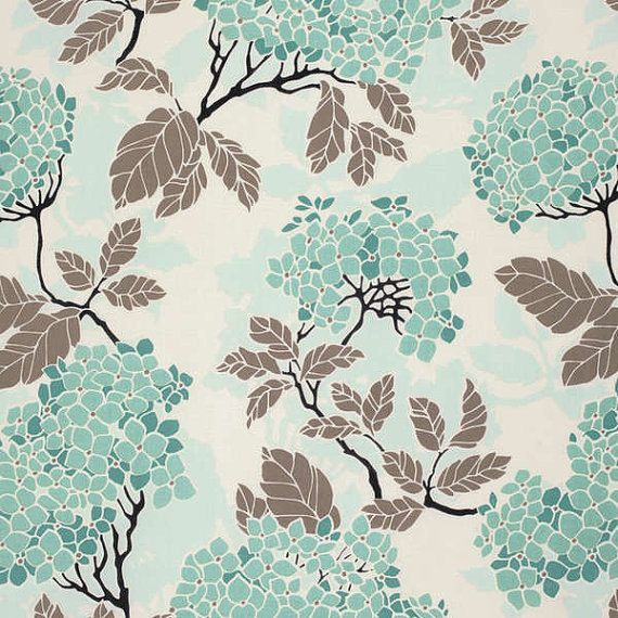 Birch Farm Hydragea in Egg Blue by Joel Dewberry for Free Spirit Fabrics 1 yard