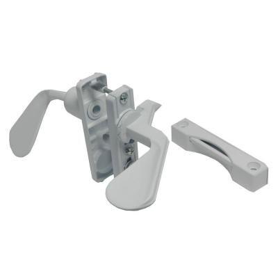 Barton Kramer 1 3 4 In White Inswing Latch Set For Screen Door Screen Door Handles Door Handle Sets Door Handles