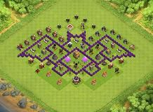 Fazil Th 7 Clash Of Clans Base Layout Clash Of Clans Clan Barbarian King