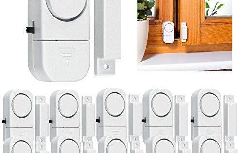 Drillpro Lot de 10 Système d\u0027alarme sans fil à domicile Fenêtre