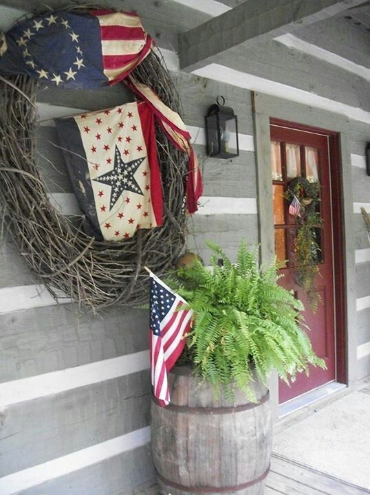 Clic Americana Porch Decor Beautiful Getting Tired Of Deco Mesh Wreaths
