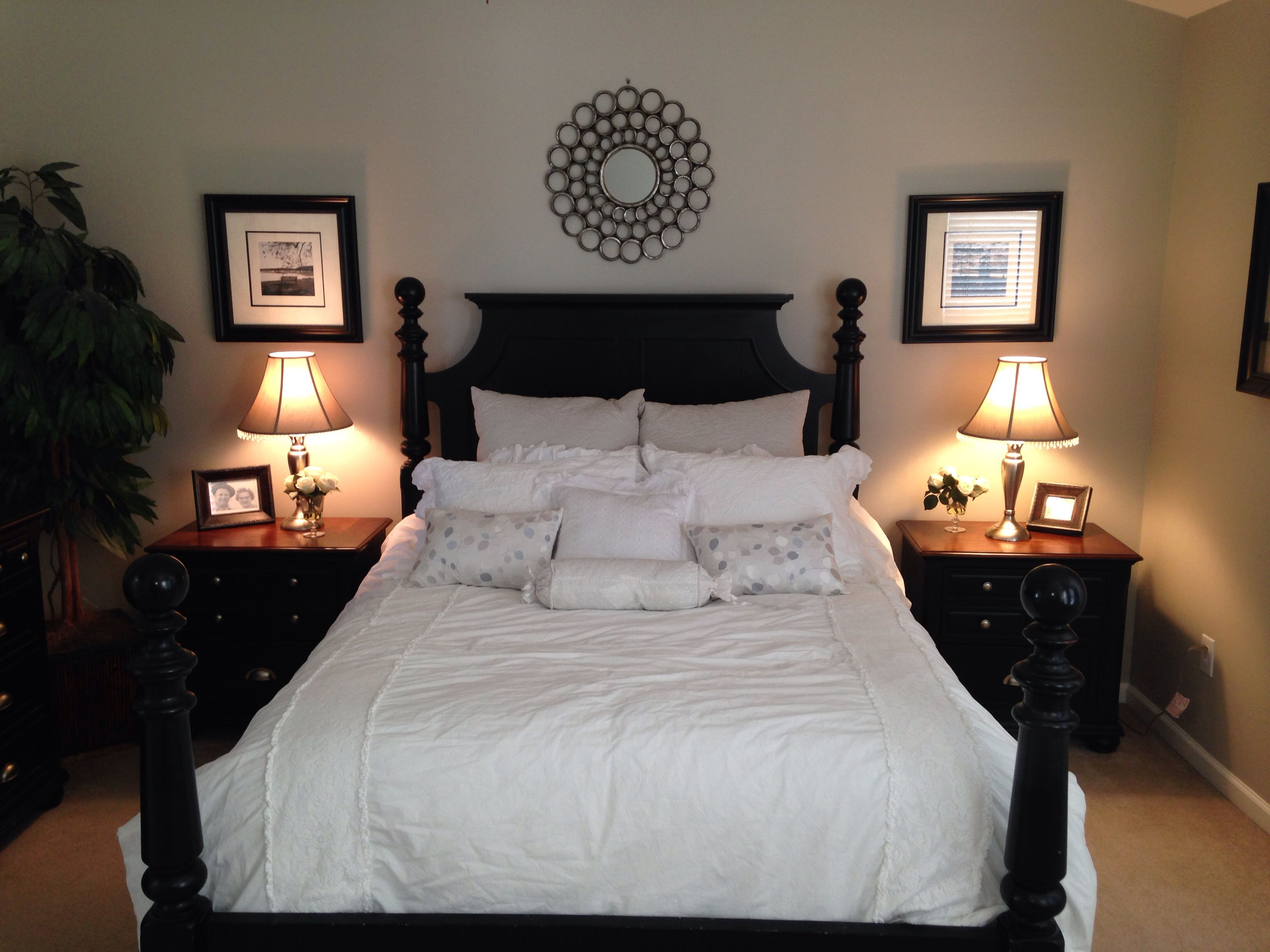 Master bedroom benjamin moore revere pewter paint