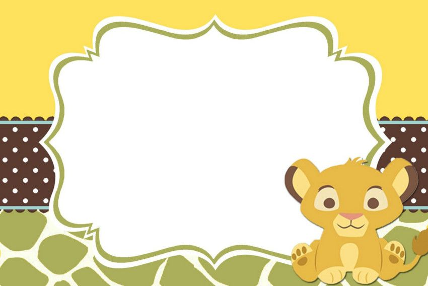 lion king baby shower invitation templates free | Marias baby shower ...