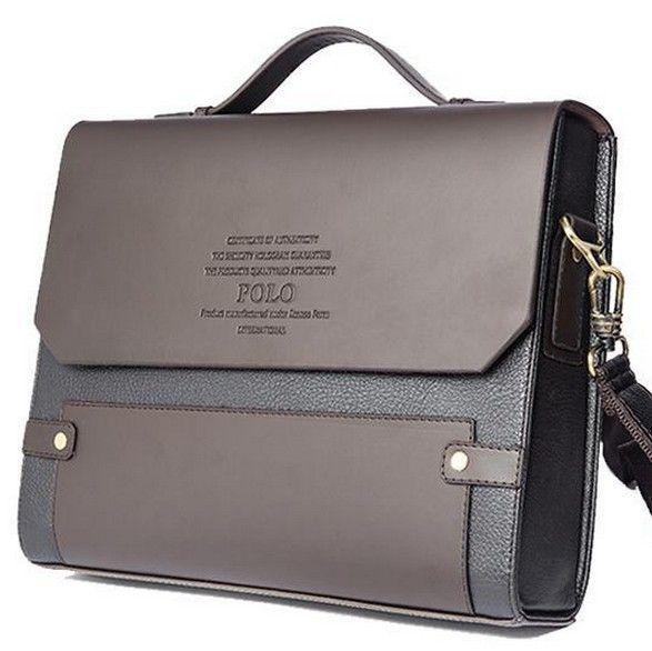 Men/'s Leather PU Business Handbag Satchel Shoulder Messenger Bag Bag Briefcase