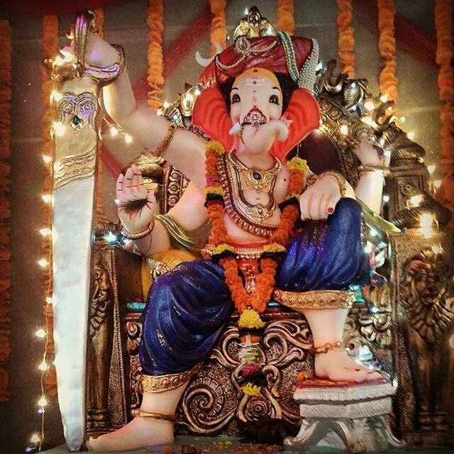 Instagram Photo By Ganpati Bappa Majha Jan 13 2016 At 2 30pm Utc Ganpati Bappa Ganesh Images Shri Ganesh