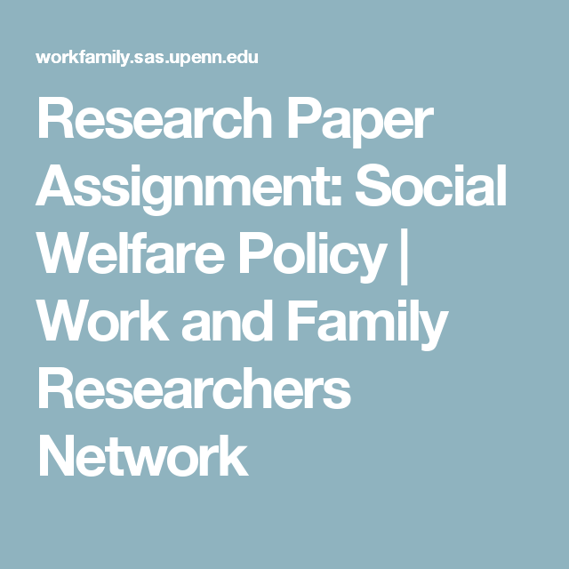 Research paper on family