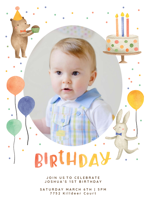 Little Friends Birthday Invitation Template Greetings Island Birthday Invitation Card Template Birthday Invitations Kids Circus Birthday Invitations