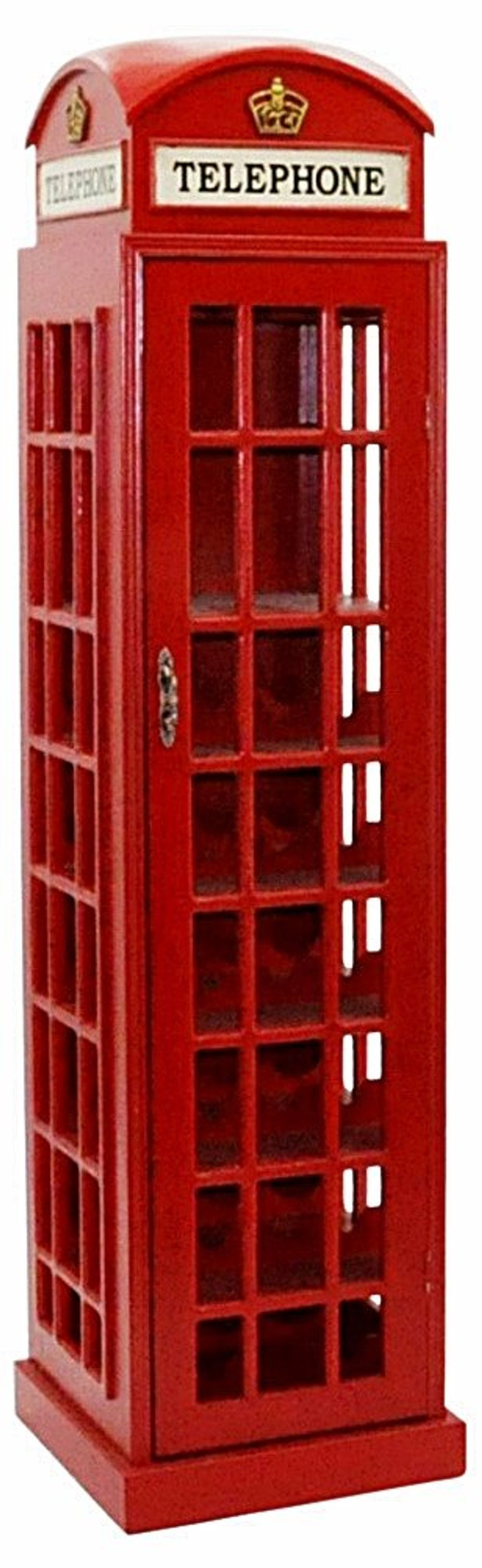 Traditional K6 Red Telephone Kiosk Wine Cabinet