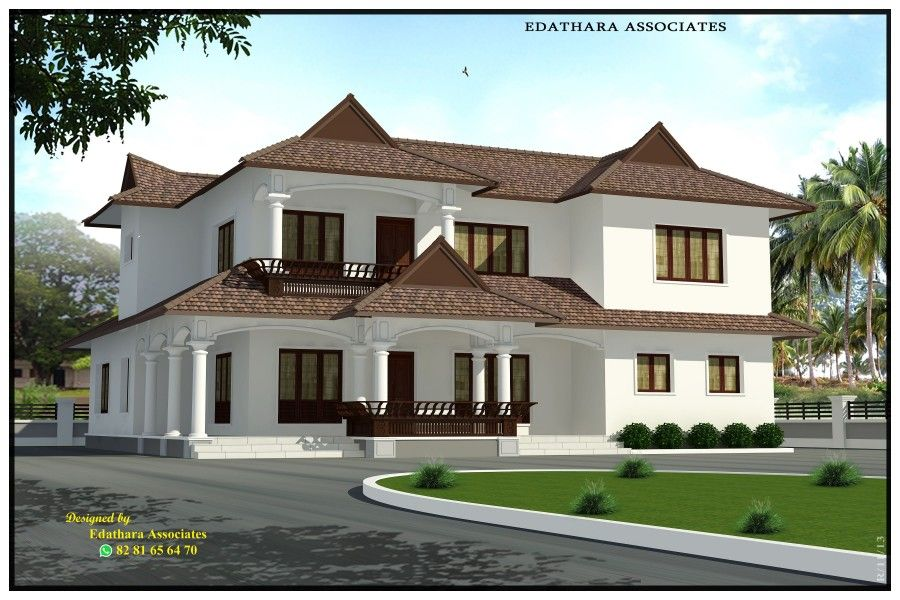 2722 Sq Ft Traditional Double Floor Kerala Home Design Free House
