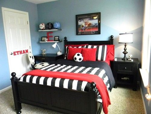 49 Stylish Soccer Themed Bedroom Design For Boys Decomagz