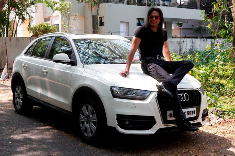 Babu antony with his audi q3 1613 malayalam actors with for Garage auto star antony
