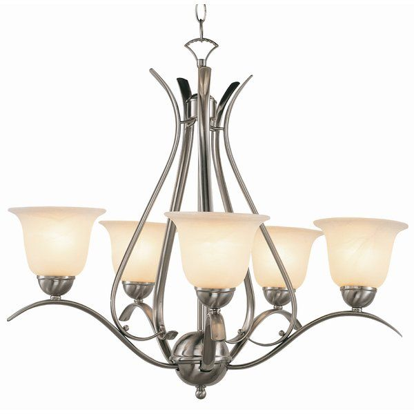 Contemporary 5 light shaded chandelier youll love