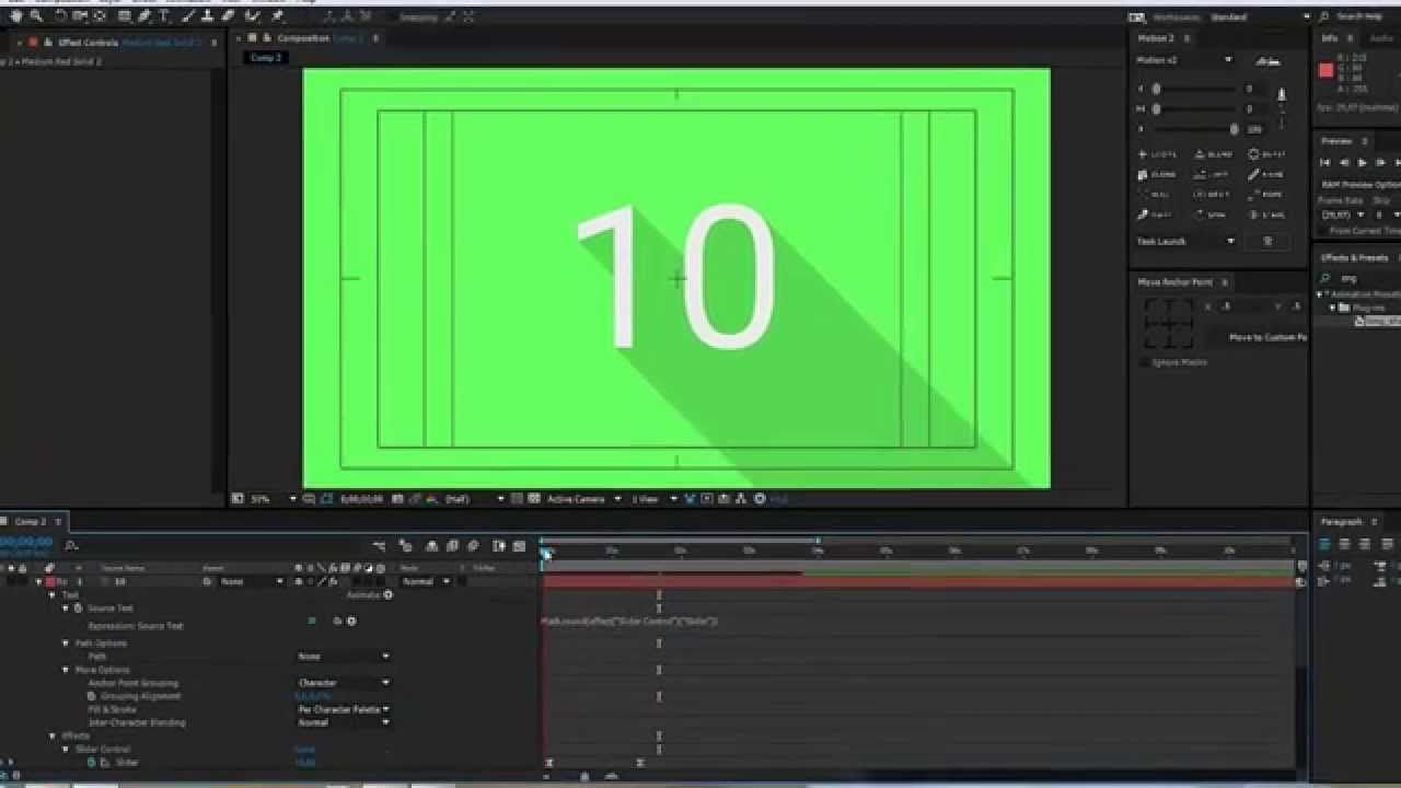 Animated Counting Numbers in After Effects | Slider Control ...