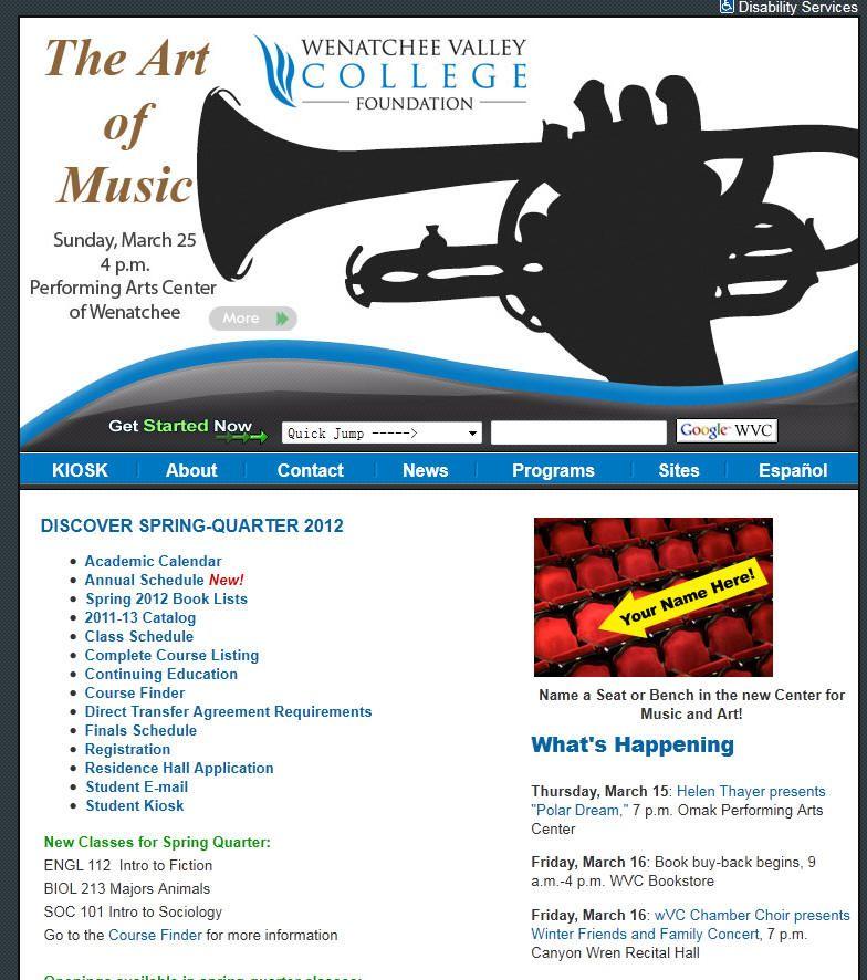 Wenatchee Valley College WA Valley college, College