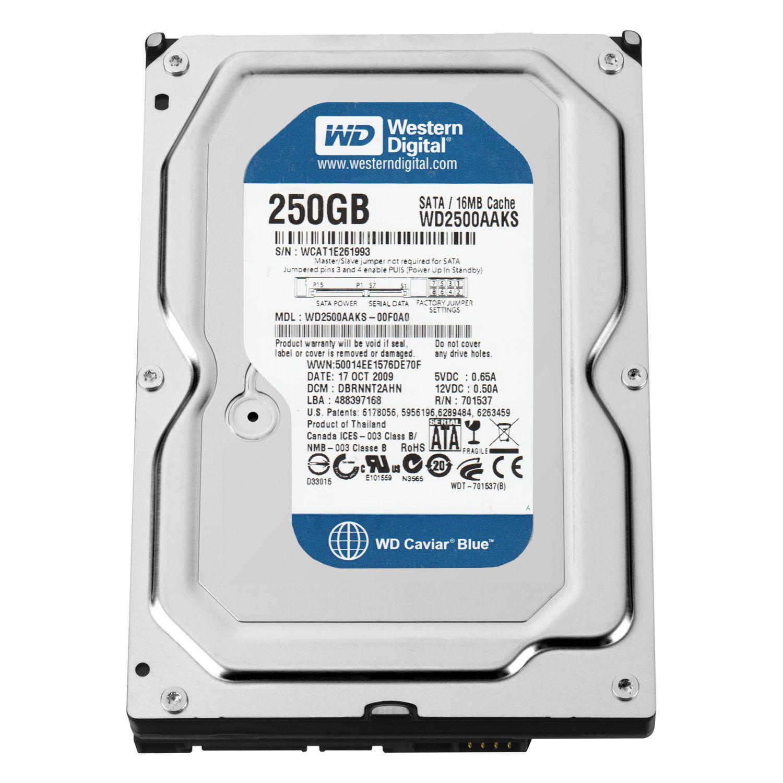 Western Digital Blue 250GB (WD2500AAKS) – Refurbished Supply