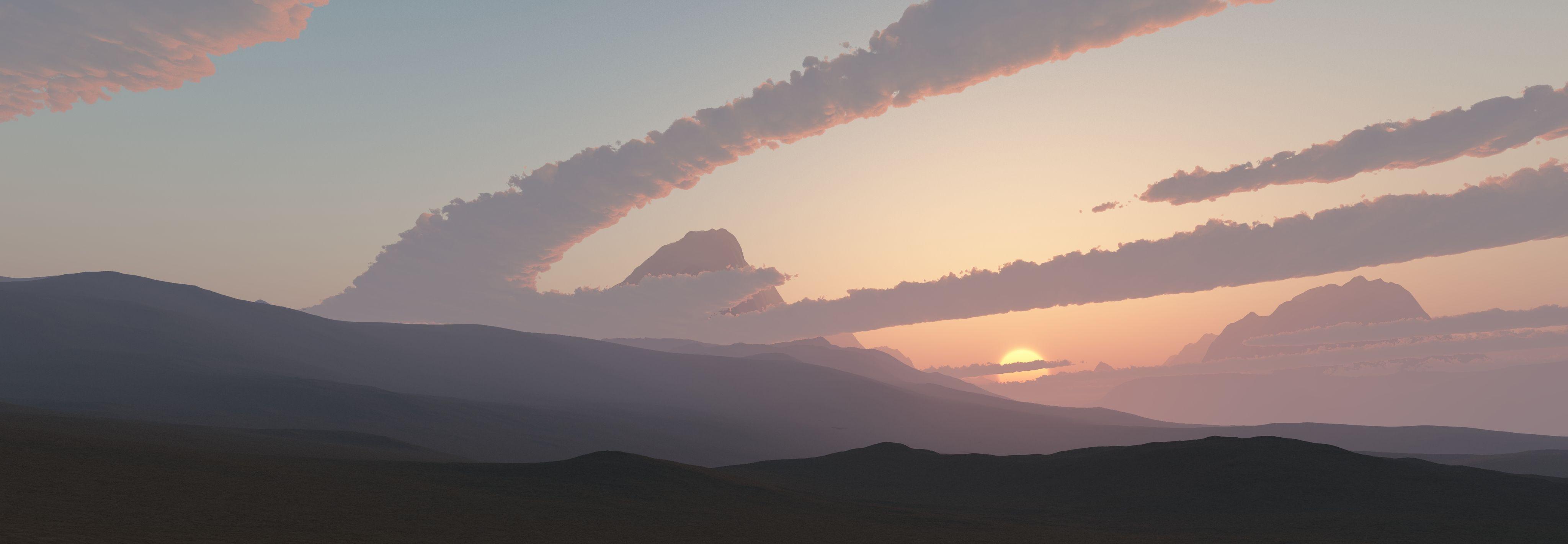 desert #sunset #background #colors #wide #hd #surreal #purple #hazy