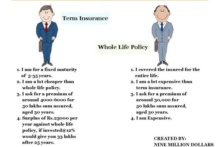 Whole Life Insurance Quotes Cool What Is The Difference Between Term And Whole Life Insurance