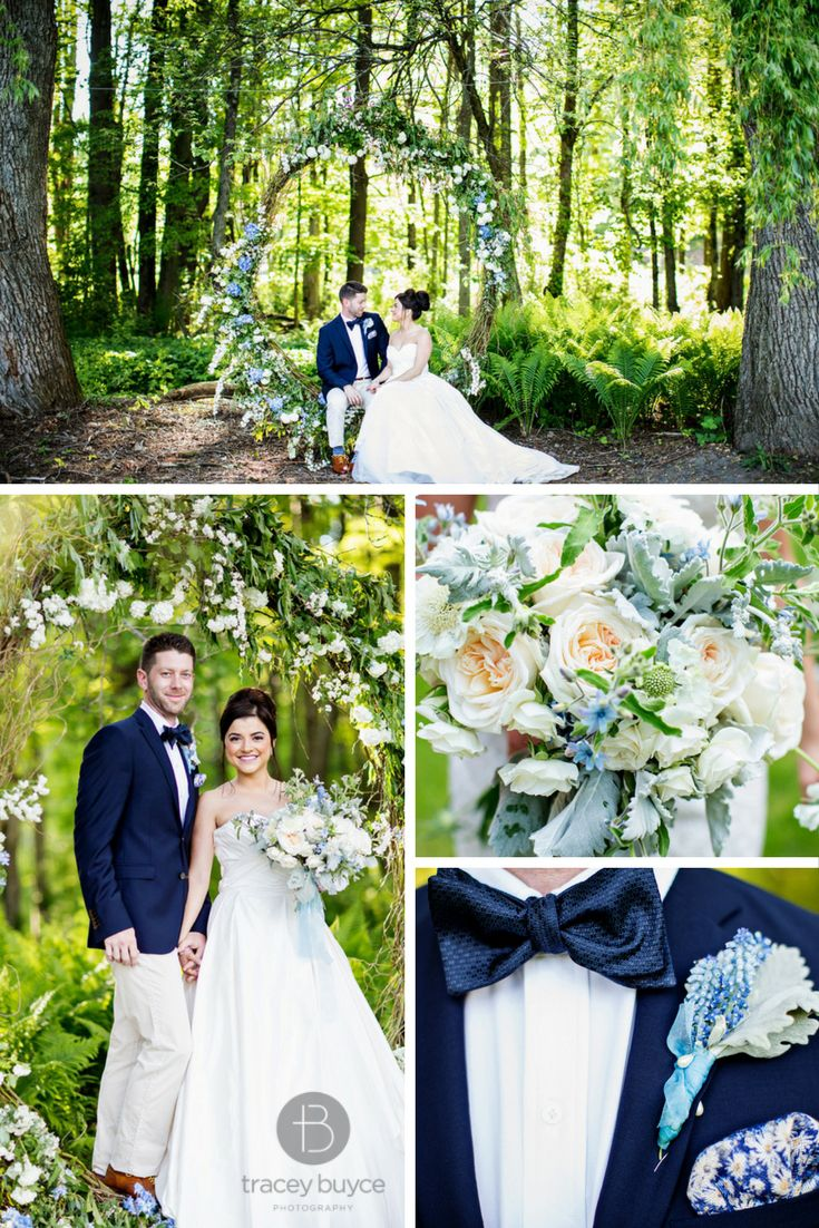 Love The Blues In This Gorgeous Wedding Flower Swing By Renas Fine