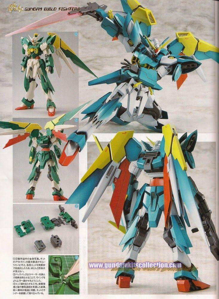 Custom Build  Hgbf 1  144 Gundam Fenice Rinscita  With