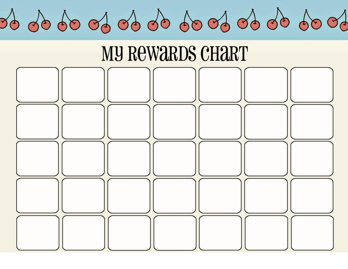 Printable Reward Charts For Kids Reward Chart Template
