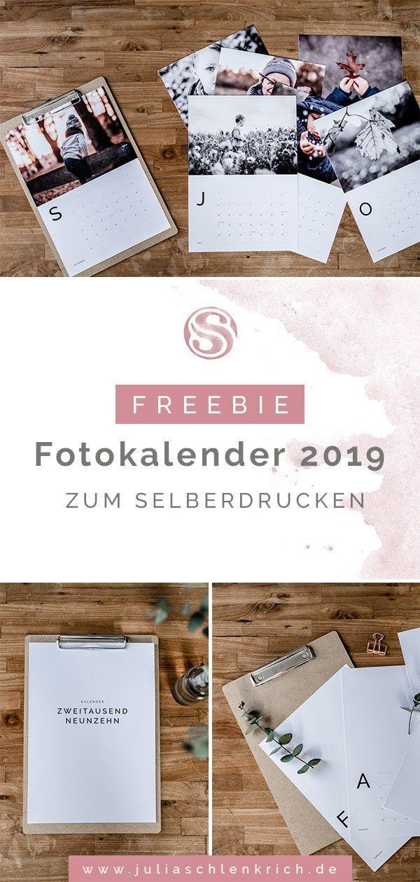 Freebie Kostenloser Fotokalender 2019 Zum Selberdrucken