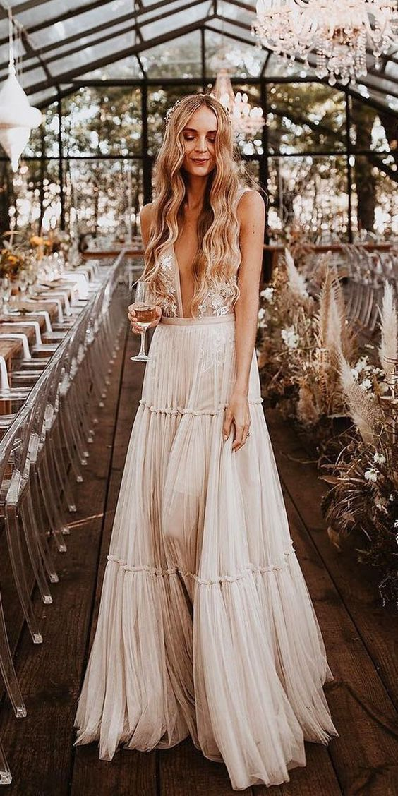 33 Boho Wedding Dress Ideas for Your Big Day - Poptop Event Planning Guide