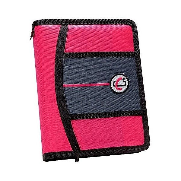 Case•it Ring Binder With Zipper Cover, 9 Pockets