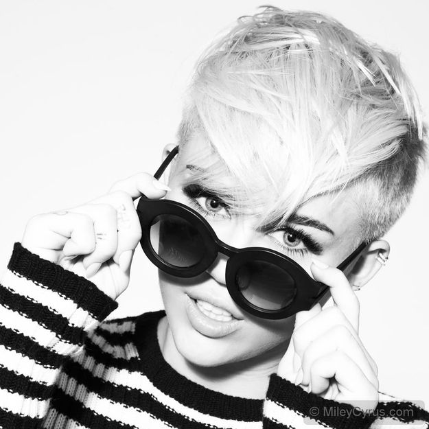Not ashamed to admit I'm a Miley fan... She is definitely rocking the new style.