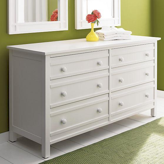 Best Brighton White 6 Drawer Dresser In Dressers Chests 400 x 300