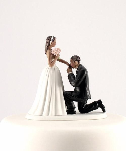 A Cinderella Moment African American Couple Wedding Cake Topper Made Of Hand Painted