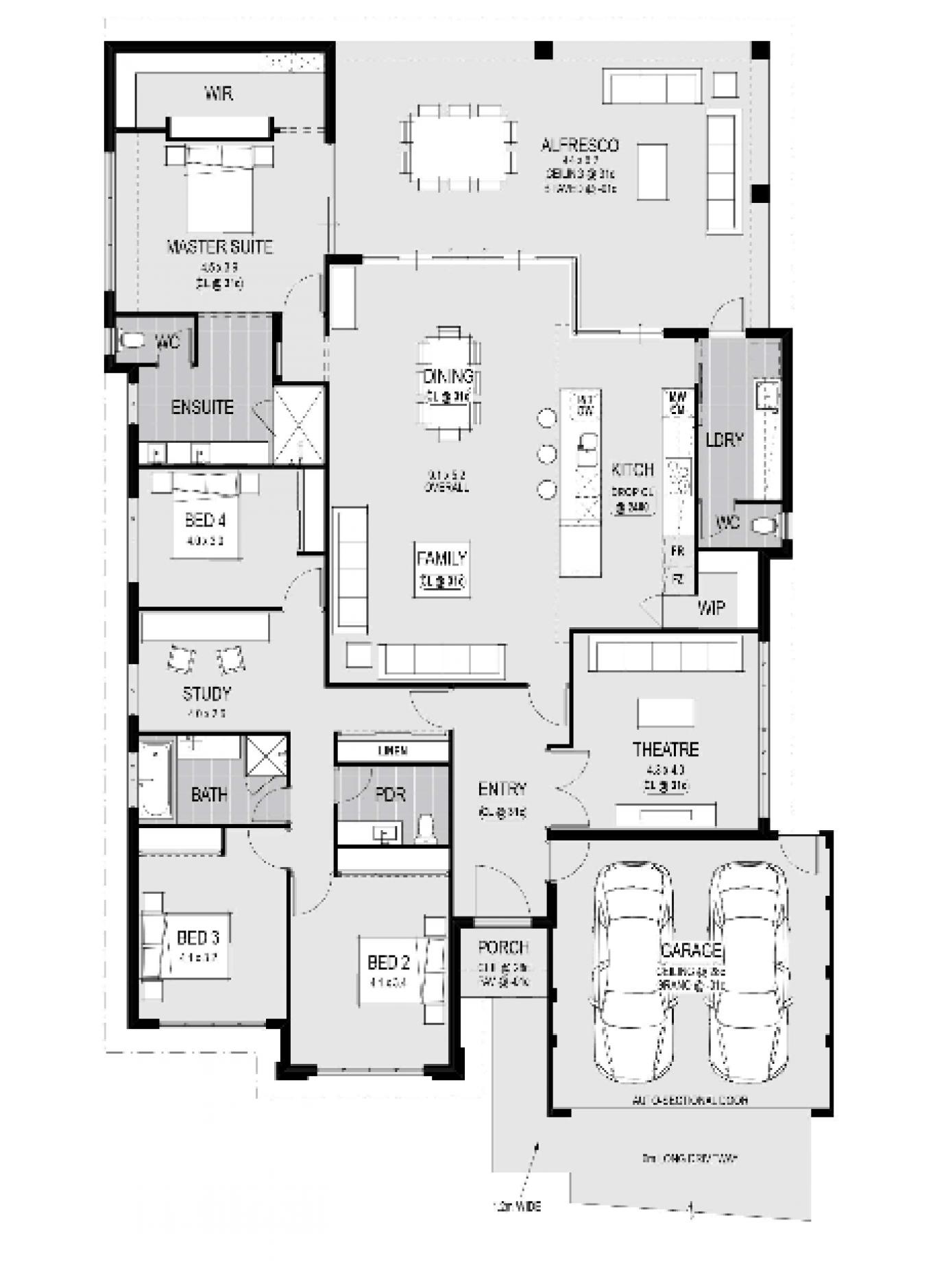 Modena Single Storey Home Design Master Floor Plan Wa Design Floor Home Master Modena Plan Sin Apartment Floor Plans Floor Plan Design House Layouts