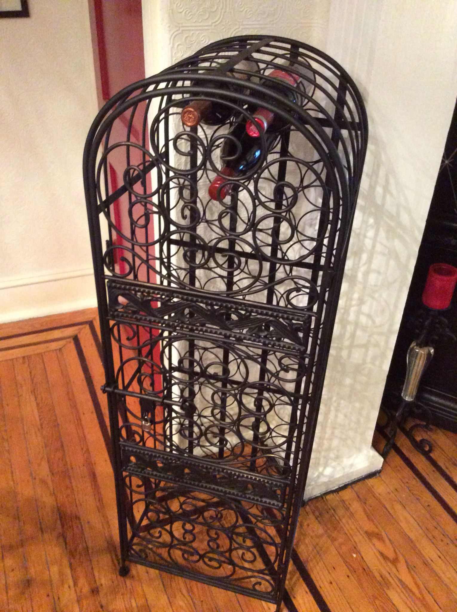Cast Iron Wine Rack Iron Wine Rack Wine Rack Diy Home Decor